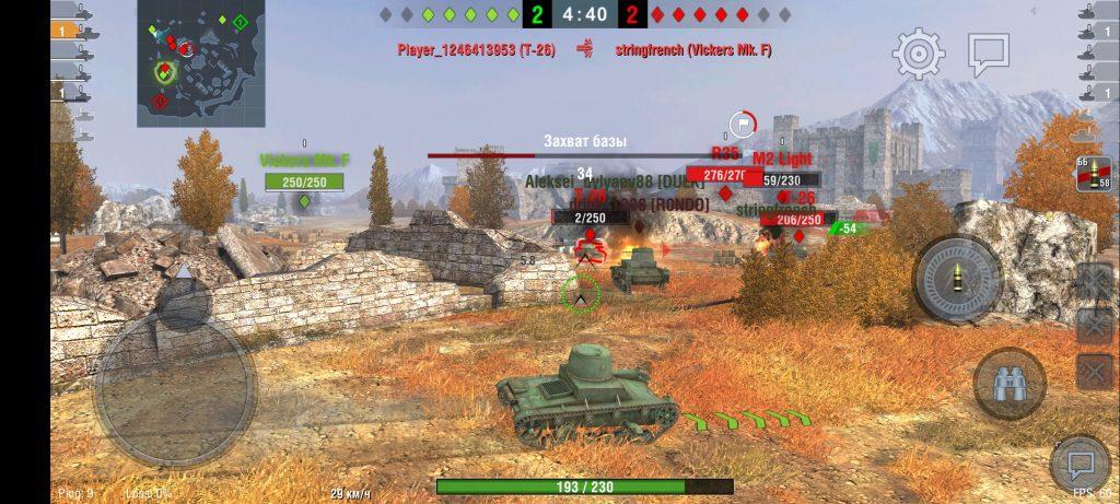 Графические возможности Realme X3Superzoom в World of Tanks: Blitz