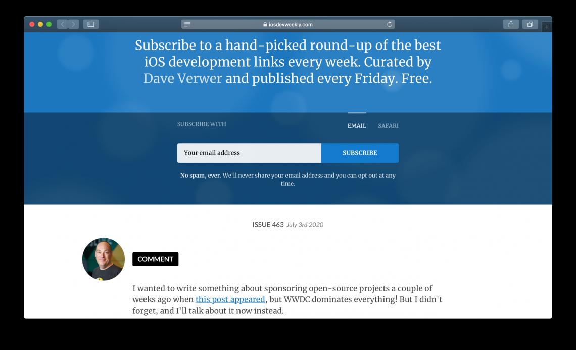 Будущий iOS-разработчик найдёт много полезного в неофициальной рассылке