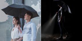 Xiaomi представила автоматический зонт со встроенным фонариком