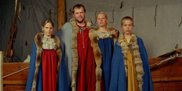 Предположительно, именно так выглядела семья северян