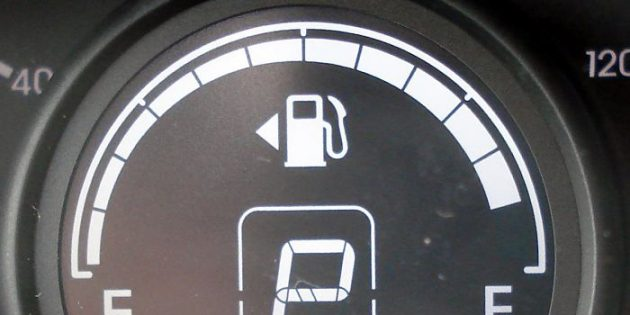 Индикатор бензина в авто