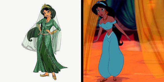 Герои мультфильмов: Жасмин следовало бы носить длинный закрытый халат и покрывать волосы вуалью