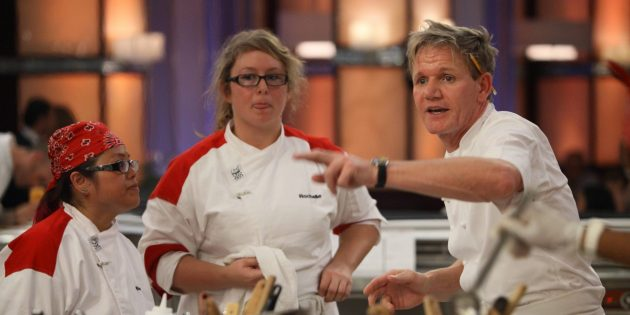 реалити-шоу: кадр из передачи «Адская кухня»