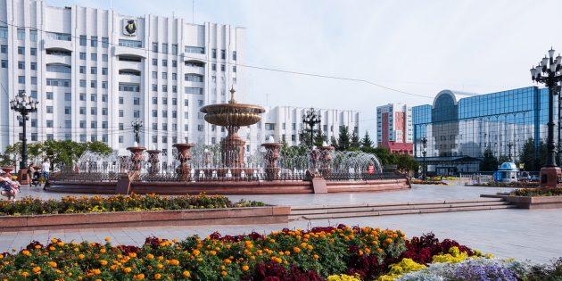 Достопримечательности Хабаровска: площадь Ленина