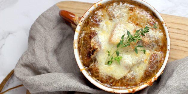 Любимые блюда: французский луковый суп