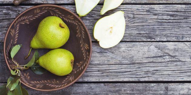 В каких продуктах содержится клетчатка: груши