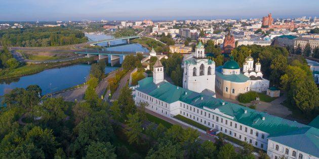 Достопримечательности Ярославля: Спасо-Преображенский мужской монастырь