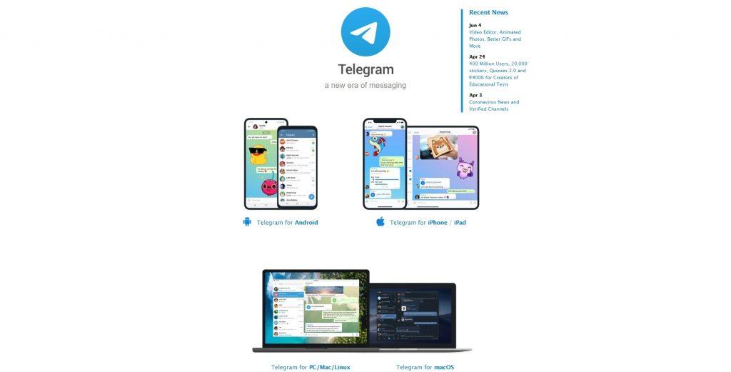 Где вести блог: Telegram
