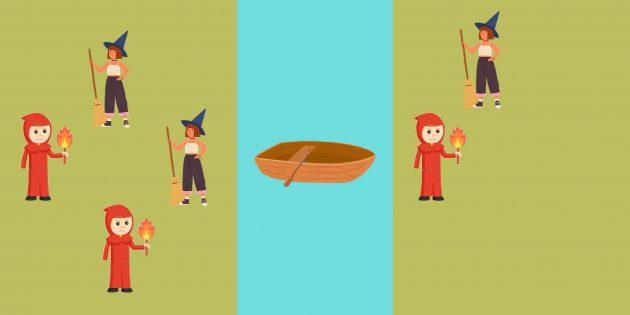 Логическая задача: в обратный путь отправляются инквизитор и ведьма