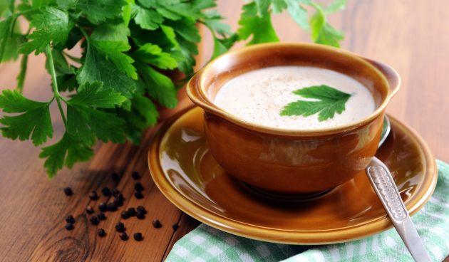 Крем-суп из белых грибов