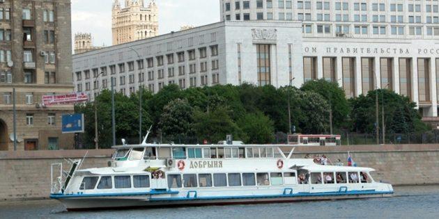 Прогулки на теплоходах по Москве‑реке