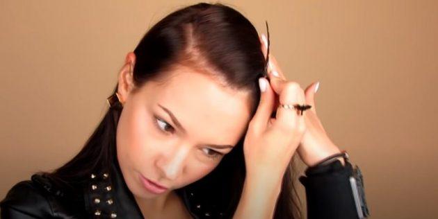 Причёски для круглого лица: расчешите волосы и сделайте боковой пробор