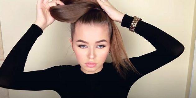 Причёски для круглого лица: соберите волосы в пучок