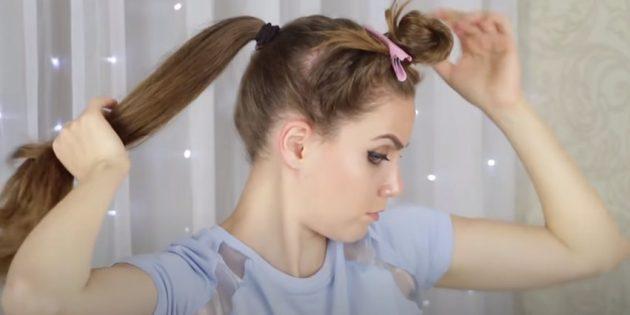 Женские причёски для круглого лица: оставшиеся пряди соберите в высокий хвост
