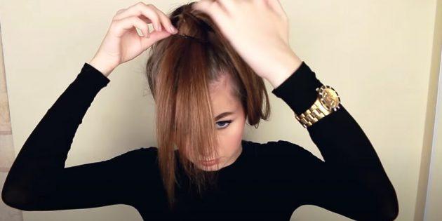 Причёски для круглого лица: перебросьте свободные концы волос на лицо