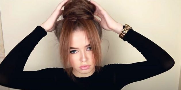 Причёски для круглого лица: закрепите пучок