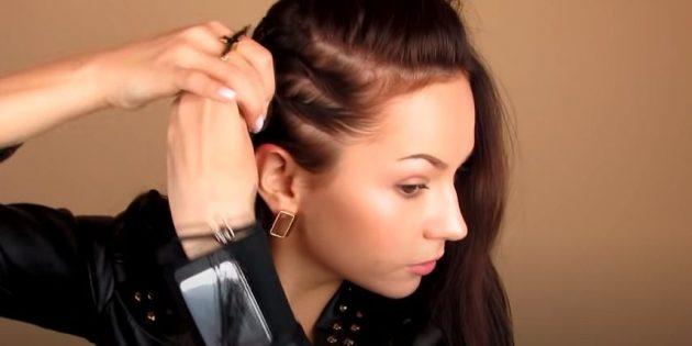 Причёски для круглого лица: сделайте ещё один жгут