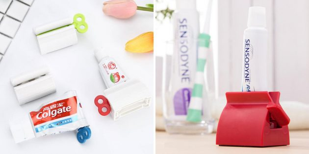 Приспособление для выдавливания зубной пасты