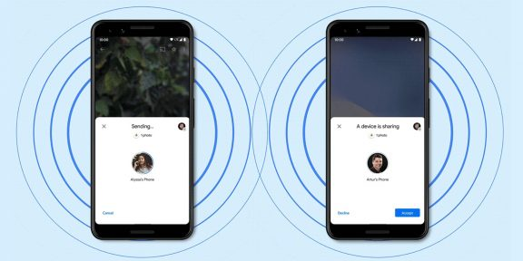 Google представила Nearby Share — это аналог AirDrop для Android