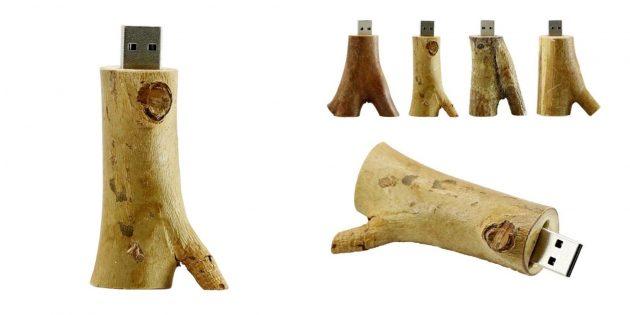 Деревянная флешка