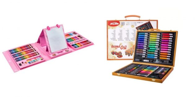 Что подарить девочке на день рождения на 7лет: большой набор для рисования