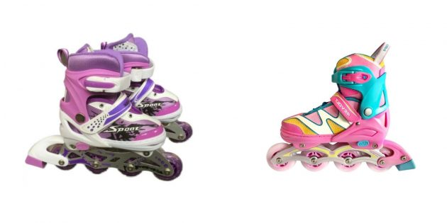 Подарки девочке на день рождения на 7лет: ролики