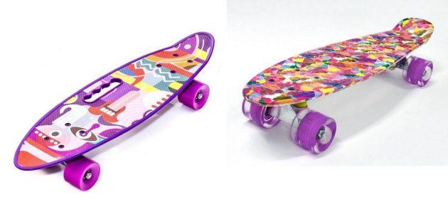 Подарки девочке на день рождения на 7лет: скейтборд