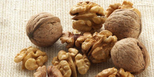 Где найти полезный жир: грецкие орехи