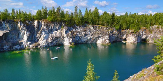удивительные места России: горный парк «Рускеала», Карелия
