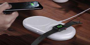 Цена дня: беспроводная зарядка Baseus для смартфонов и Apple Watch за 1479рублей