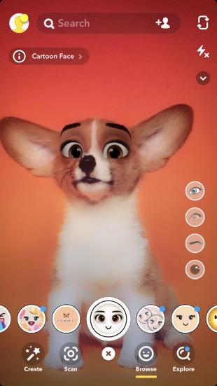 фильтр snapchat