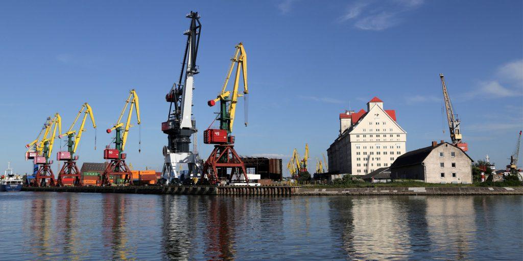 Портовая набережная Калининграда
