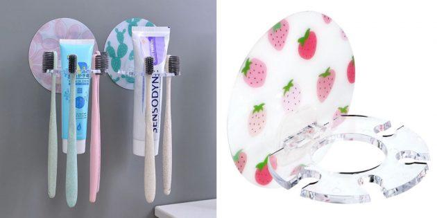 органайзеры для ванной: держатель для щёток и зубной пасты