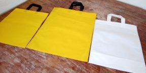 Лайфхак: как сложить пакет с ручкой, чтобы он занимал минимум места