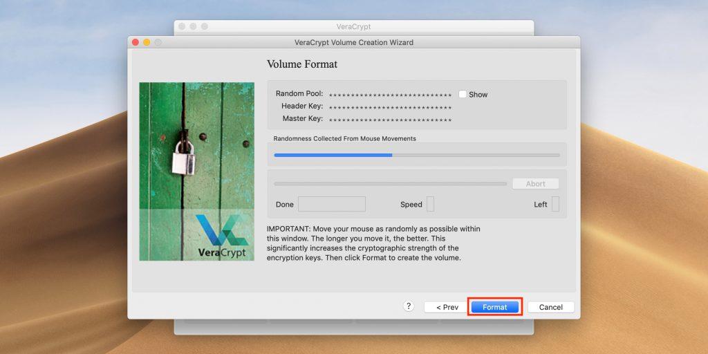 Как поставить пароль на флешку: нажмите Format