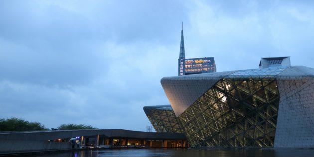 необычная современная архитектура: Оперный театр в Гуанчжоу
