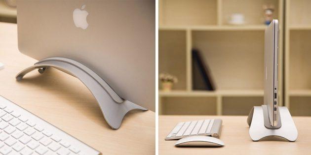 органайзеры для рабочего места: вертикальная подставка для ноутбука