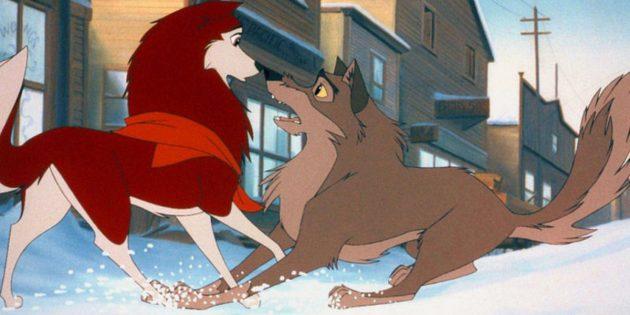 Кадр из мультфильма «Балто»