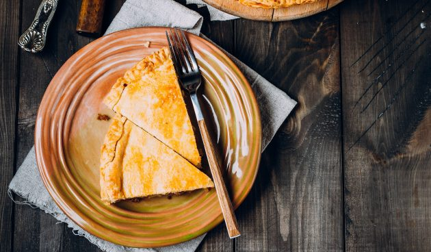 Пирог с тыквой и курицей