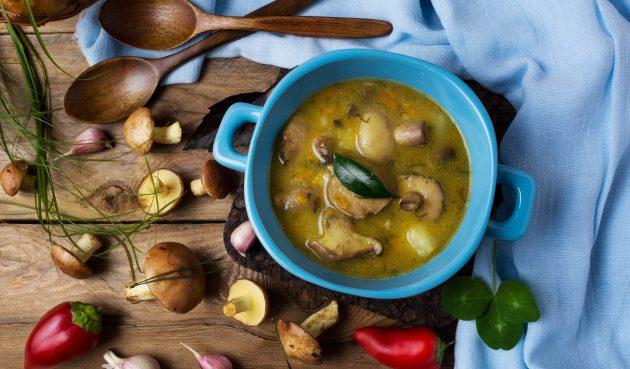 Суп из маслят с картошкой