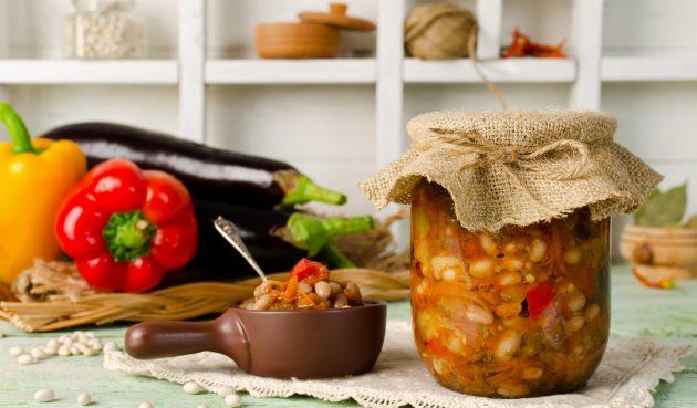 Заправка для супа с фасолью на зиму