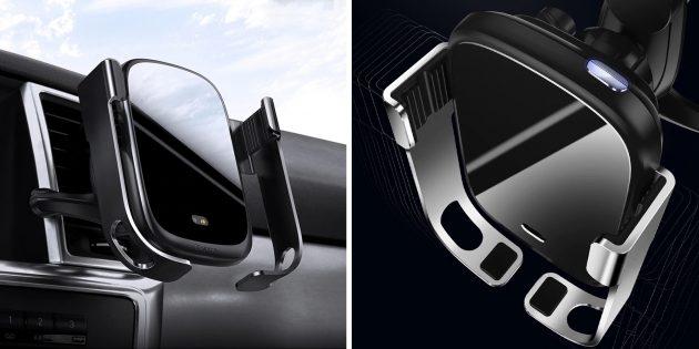 Автомобильная зарядка-держатель для смартфонов Baseus