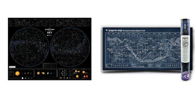 Подарок начальнику на день рождения: карта звёздного неба