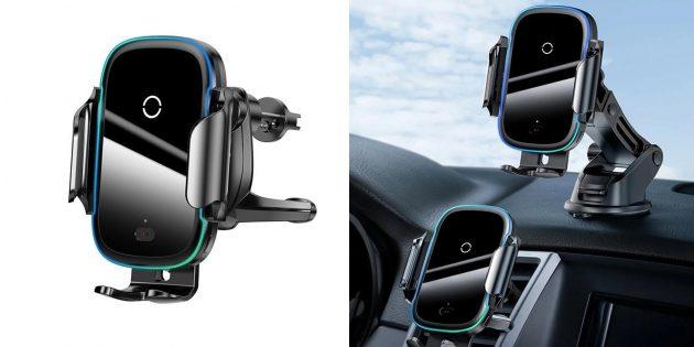 Автомобильный держатель-зарядка Baseus