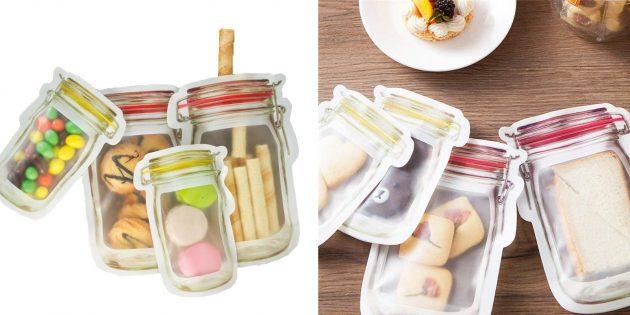 Качественные недорогие вещи: набор герметичных пакетов для продуктов