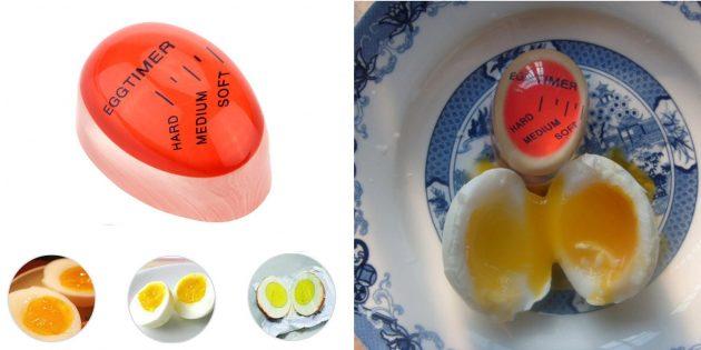 Качественные недорогие вещи: таймер для варки яиц с цветовым индикатором
