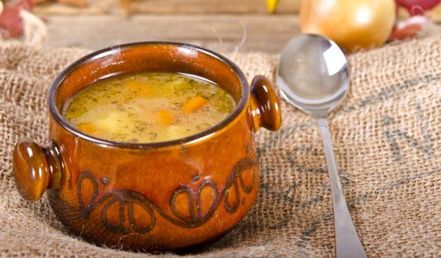 Польский гороховый суп с копчёностями