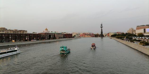 Панорамное фото на Honor 30i с Крымского моста