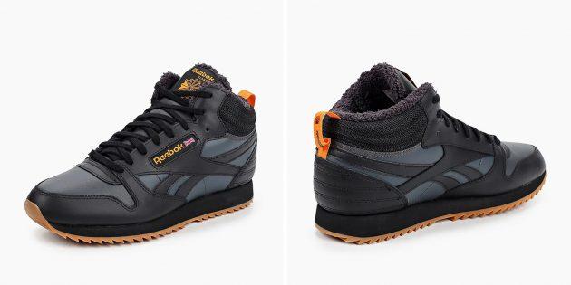 Утеплённые кроссовки Reebok Classic Leather Mid Ripple