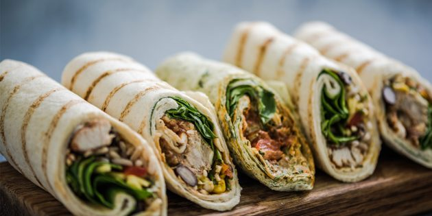 рецепты из лаваша: сэндвич-рап